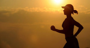 Jogging, or running, to get in shape