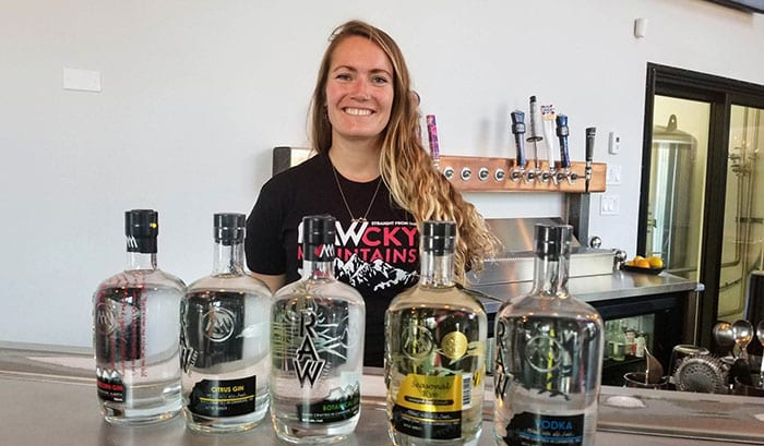 RAW Distilleries' Justine Watts Canmore Alberta