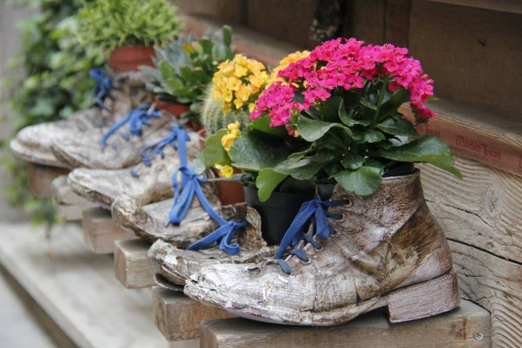 Italians have a way of creating beauty – even from an old pair of boots